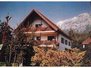 Stilvoll eingerichtete Ferienwohnungen in Bad Reichenhall, große sonnige Balkone