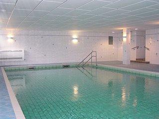 4**** Luxus-Apartment am Strand mit Schwimmbad, Sauna, Dampfbad, Kamin + Billard