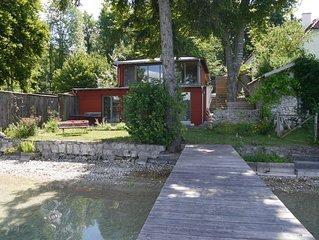 Ferienhaus am Pilsensee mit direktem Seezugang und Steg
