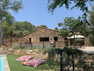 Maison avec piscine chauffée Golfe de St Tropez