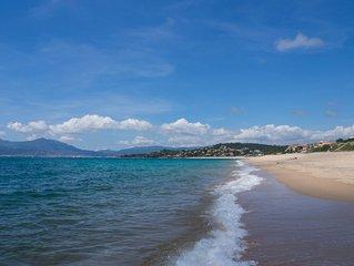 T3 vue mer dans une residence securisee, a 2 min a pied de la plage, orientee SO