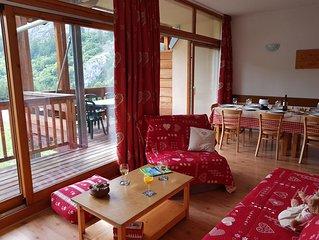 Valloire : Résidence à 5 mn des pistes -Piscine-sauna Appartement 8-10 per