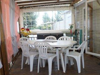 Mobil-Home climatise, lave linge, lave vaisselle en bord de mer