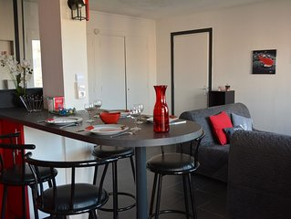 Promo ! Appartement 50 m2 wifi, parking idealement situe