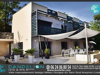 villa 5***** nature design piscine jacuzzi plage Millau