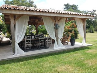 Villa de charme  entre  lac, Océan et vignes
