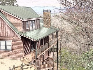 Alpine Mountain Majesty Luxury Cabin with Breathtaking Mountain View's -Helen