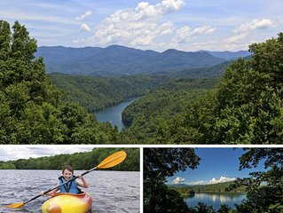 Fontana Lake Cabin w/ Private Dock , Fishing Pond, Huge Covered Porch & 50+ Acre