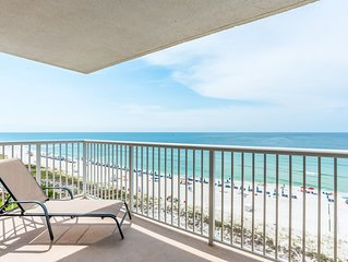 Watch the Dolphins play from your huge Beachfront Balcony!