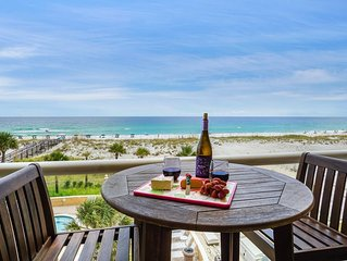 Beach Front w/Heated Outdoor Pool-Dazzling Views/Sleeps 6-Beach Chairs included!