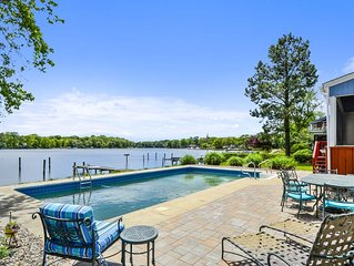 New Listing!  Little Magothy Riverfront Home With Pool