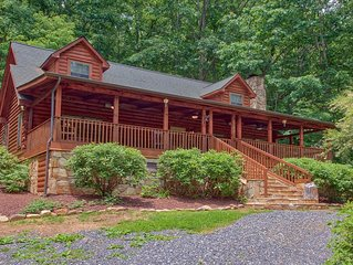 ASK ABOUT OUR MAY SPECIAL  Log Cabin Nestled on 16 Acres with an Amazing Creek