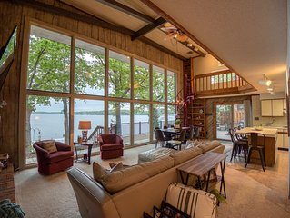Stunning Main Channel View! Lakefront 4BR/3BA with Dock, Fire Pit, & Fiber WI-FI