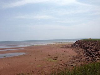 Stunning Ocean Front Summer Home /Red Sand Beach of PEI's South Shore