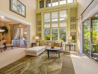 2 master suite with lanai on separate floors gives great privacy.  BBQ,