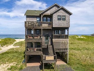Oceanfront SOLITUDE: Decktop Grill/Bar,360WaterViews,Hot Tub,Pets