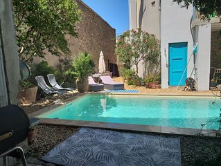 Luxury Holiday Home with pool in a lively village. South of France.