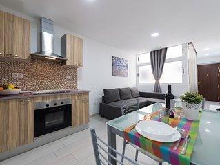 Acogedor apartamento con una habitacion en pleno paseo maritimo