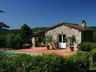 Tuscan Farmhouse/Villa. Idyllic Scenic Tranquility In Hills Near Lucca And Sea