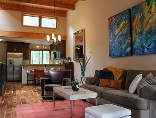 Winter is Coming! Lovely 2B/2Bth overlooking the River w FP, deck, steam shower