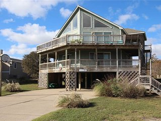 #443: Partial OCEANVIEW Home in Corolla w/PrivatePool, HotTub & RecRm