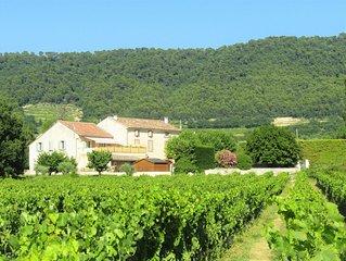 Gîte familial jusqu'à 6 p. Coeur des Vignes et Dentelles de Montmirail