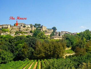Highest house in Menerbes, stunning views of Luberon from every room
