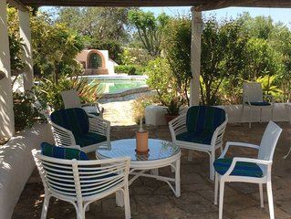 2 bedroom country house with lovely garden and pool