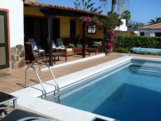 Impressive 3 bedroom, 3 bathroom villa with a heated private pool and sea views