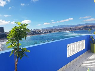 Beachfront Apartment Las Canteras Beach  La Puntilla Area