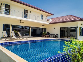 'SECLUDED LUXURY POOL VILLA SLEEPING UP TO 8 WITH FREE AIRPORT TRANSFERS'