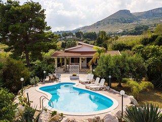 Villa in Scopello with 5 bedrooms sleeps 9