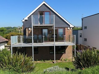 Lovely large, detached beach house with stunning sea views