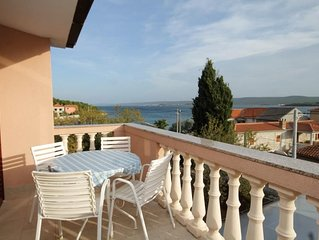 Two bedroom apartment with terrace and sea view Pašman (A-694-b)