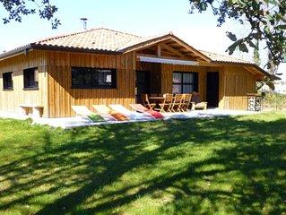 Maison bois contemporaine sur littoral landais
