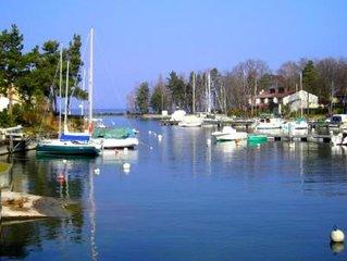 Maison les pieds dans l'eau Lac Léman AVEC PLACE D'AMARRAGE