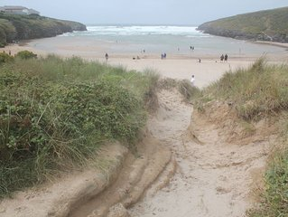 Self-catering rental with beach access, near Padstow.