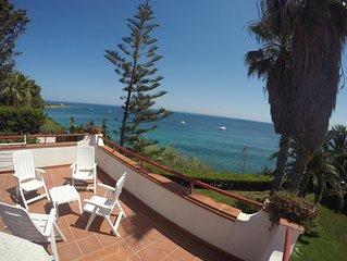 Villa Artemide, sul mare, giardino privato (area marina protetta) bella terrazza