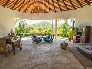 Built within the walls of a magnificent ancient circular sugar mill