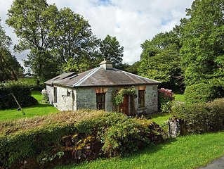 Small gate lodge on quiet cul-de-sac road 1/4 mile from the eastern shore of Lough