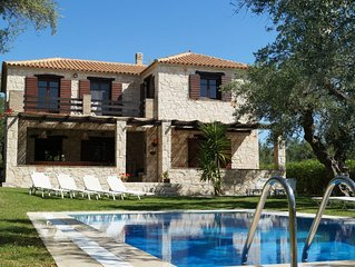 Traditional stone villa with private pool