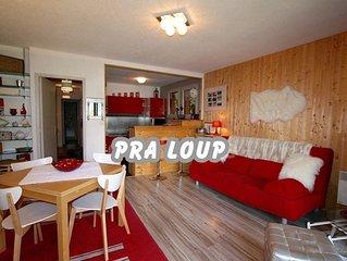 Appartement tout confort de 52 m2 à Pra Loup 1500 à 200 m de la télécabine