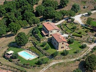 Villa val di luce, on the shores to Lake Trasimeno, with private pool