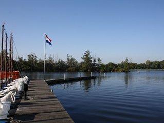 Luxe vakantiehuis in waterrijke natuur van Kortenhoef en Loosdrecht