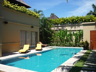 Stunning luxury villa, private pool, walled garden, 500 meters Bang Tao Beach.