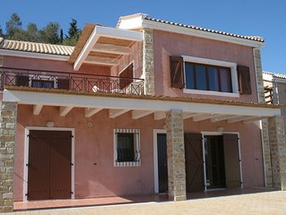 Spacious 3 Bedroom Villa Sharing Pool and Spectacular Views overlooking Ionian S