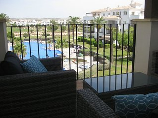 Lovely apartment overlooking fabulous pool at the Hacienda Riquelme Golf Resort
