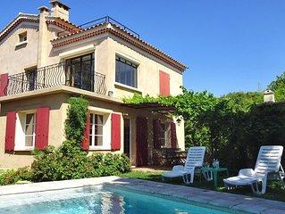 5mn à pied plage, villa provencale, jardin et piscine privée