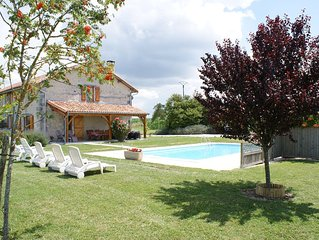 Holiday home with private pool and golf nearby.
