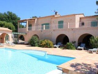 Plage de Pampelonne : Grande villa avec piscine au calme , plage 5 mn à pied